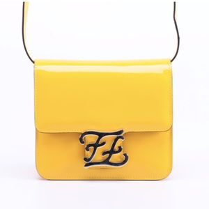 Fendi Karligraphy Shiny Shoulder Bag